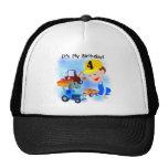 Camisetas y regalos del cumpleaños de la construcc gorras de camionero