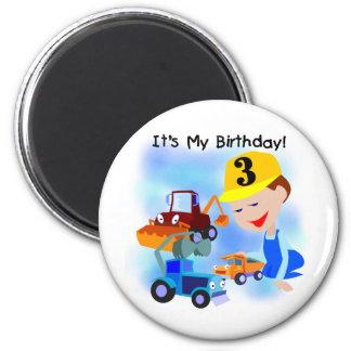 Camisetas y regalos del cumpleaños de la construcc imán para frigorifico