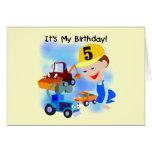 Camisetas y regalos del cumpleaños de la construcc felicitación