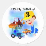 Camisetas y regalos del cumpleaños de la pegatina redonda