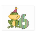 Camisetas y regalos del cumpleaños de la rana del postal
