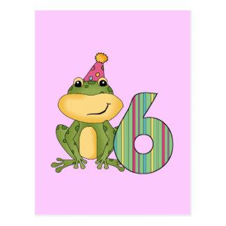 Camisetas y regalos del cumpleaños de la rana del  tarjetas postales