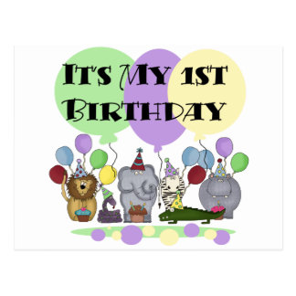 Camisetas y regalos del cumpleaños de los animales tarjetas postales