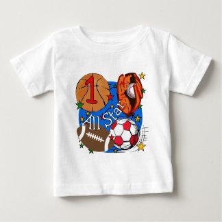 Camisetas y regalos del cumpleaños de los deportes playeras