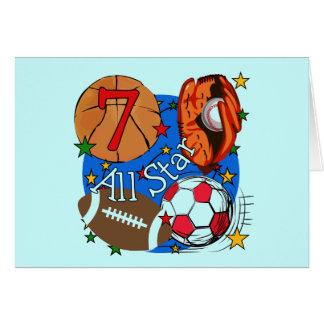 Camisetas y regalos del cumpleaños de los deportes tarjeta de felicitación