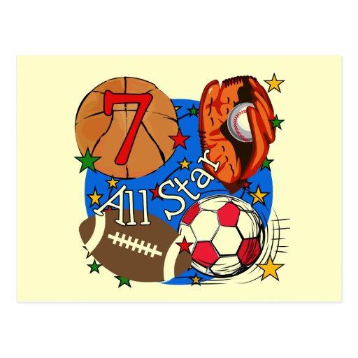 Camisetas y regalos del cumpleaños de los deportes tarjeta postal