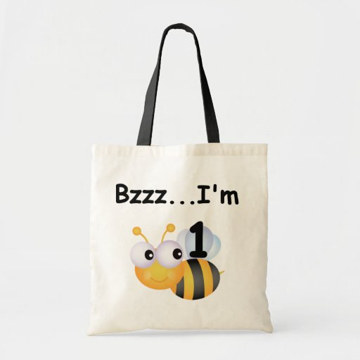 Camisetas y regalos del cumpleaños del abejorro de bolsas lienzo