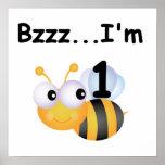 Camisetas y regalos del cumpleaños del abejorro de poster