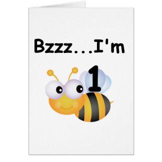 Camisetas y regalos del cumpleaños del abejorro de tarjeta pequeña
