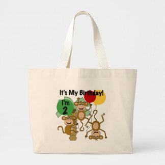 Camisetas y regalos del cumpleaños del brillo del  bolsa de mano