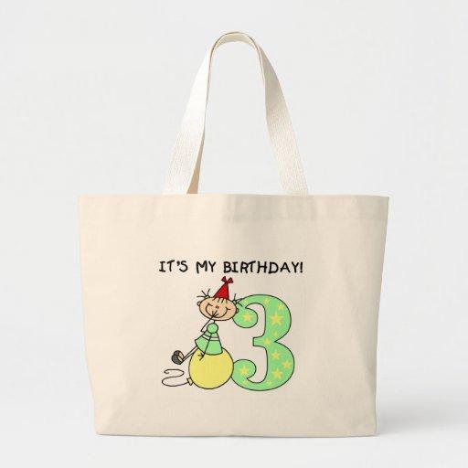 Camisetas y regalos del cumpleaños del chica del p bolsa tela grande