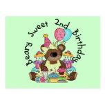 Camisetas y regalos del cumpleaños del dulce de postal