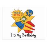 Camisetas y regalos del cumpleaños del extranjero  postal