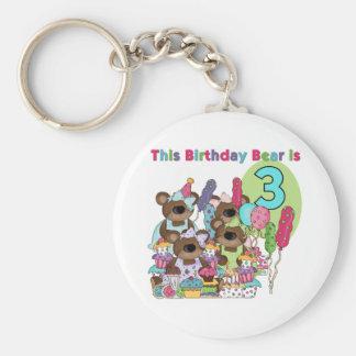 Camisetas y regalos del cumpleaños del fiesta del  llavero redondo tipo pin