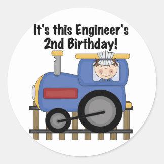 Camisetas y regalos del cumpleaños del ingeniero d pegatinas