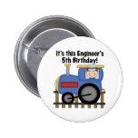Camisetas y regalos del cumpleaños del ingeniero pins