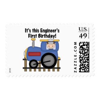 Camisetas y regalos del cumpleaños del ingeniero timbres postales