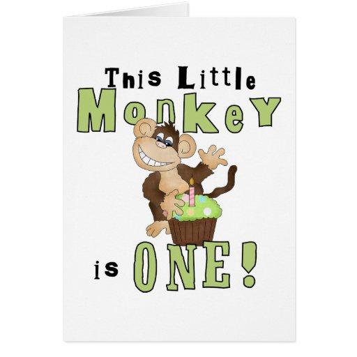 Camisetas y regalos del cumpleaños del mono del Pa Tarjeta De Felicitación