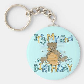 Camisetas y regalos del cumpleaños del oso de miel llavero redondo tipo pin