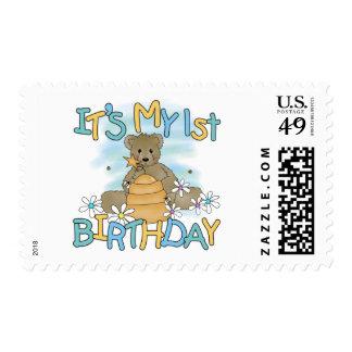 Camisetas y regalos del cumpleaños del oso de miel sello