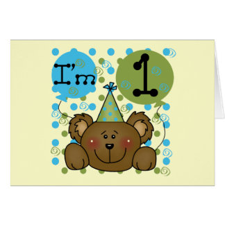 Camisetas y regalos del cumpleaños del oso de pelu tarjeta