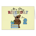 Camisetas y regalos del cumpleaños del oso del muc tarjetas