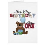 Camisetas y regalos del cumpleaños del oso del muc felicitacion
