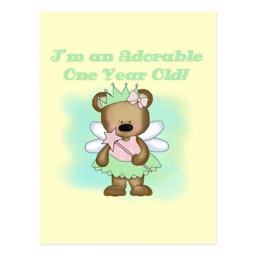 Camisetas y regalos del cumpleaños del oso del tarjeta postal