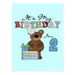 Camisetas y regalos del cumpleaños del oso del postal