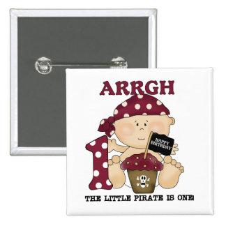 Camisetas y regalos del cumpleaños del pirata del pins