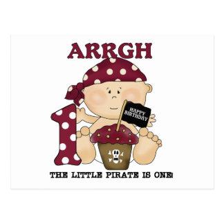 Camisetas y regalos del cumpleaños del pirata del tarjetas postales