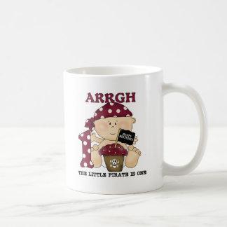 Camisetas y regalos del cumpleaños del pirata del tazas de café