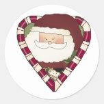 Camisetas y regalos del día de fiesta del corazón pegatinas redondas