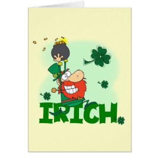 Camisetas y regalos del día de Irich St Patrick Felicitación