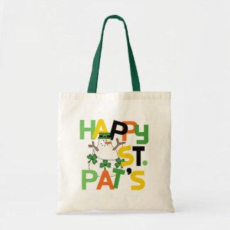 Camisetas y regalos del día del St. Pat feliz del  Bolsa Tela Barata