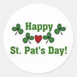 Camisetas y regalos del día del St. Pat feliz Pegatinas