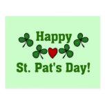 Camisetas y regalos del día del St. Pat feliz Tarjetas Postales
