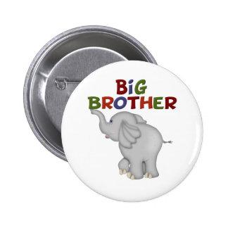 Camisetas y regalos del elefante de hermano mayor pin redondo de 2 pulgadas