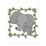 Camisetas y regalos del elefante del bebé tarjeta postal