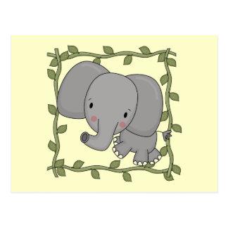 Camisetas y regalos del elefante del bebé postal