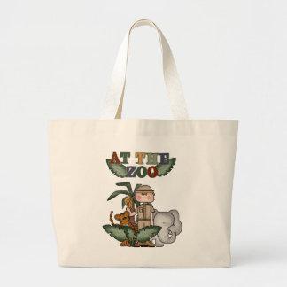 Camisetas y regalos del encargado de parque zoológ bolsa tela grande