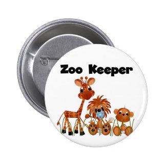 Camisetas y regalos del encargado de parque zoológ pin redondo de 2 pulgadas