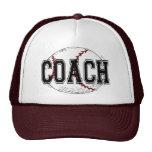 Camisetas y regalos del entrenador de béisbol gorras de camionero