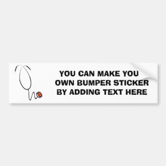 Camisetas y regalos del estetoscopio pegatina para auto