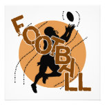 Camisetas y regalos del fútbol de la silueta anuncios personalizados
