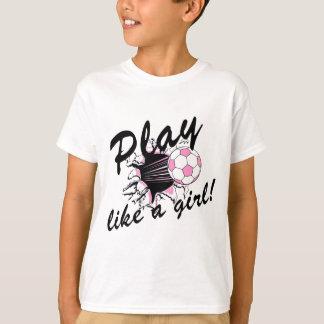 Camisetas y regalos del fútbol de las muchachas polera