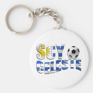 Camisetas y regalos del fútbol de Uruguay Llavero Redondo Tipo Pin