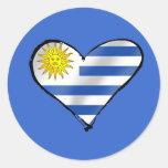 Camisetas y regalos del fútbol de Uruguay Pegatina Redonda