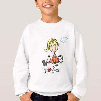 Camisetas y regalos del fútbol del amor del chica
