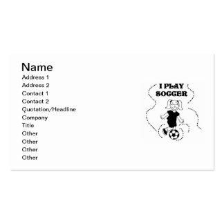 Camisetas y regalos del fútbol del juego del chica tarjetas de negocios